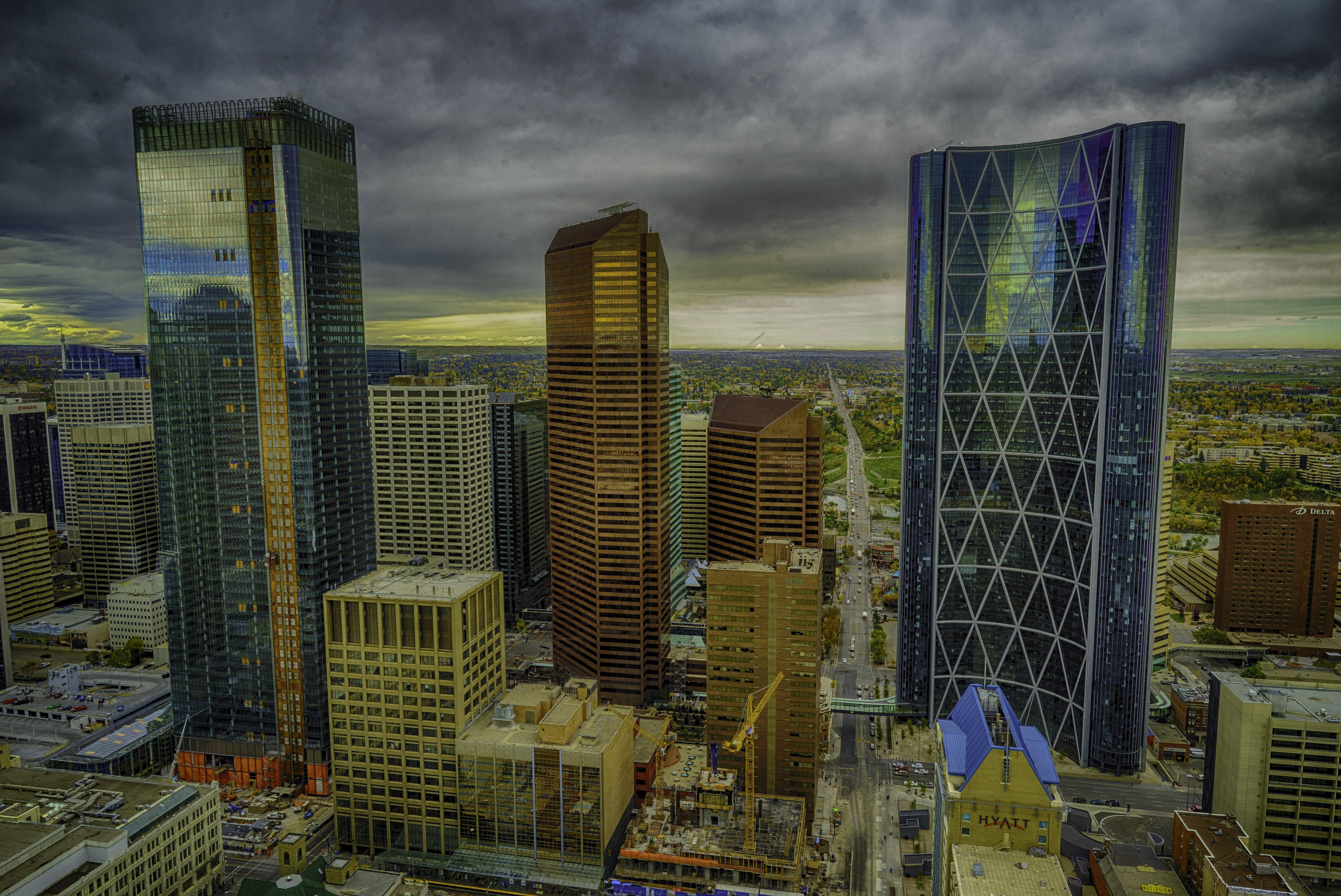 Calgary cityscape, skyline, Alberta