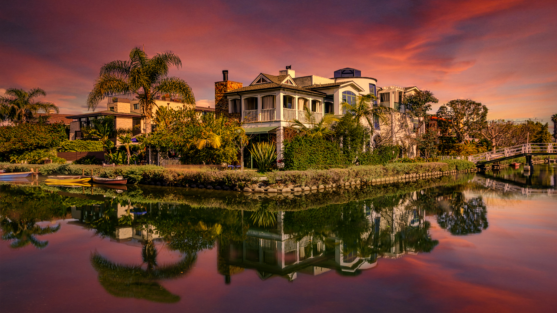 Venice Beach CanalsSunset1 2-14-18