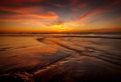 Sunset at Del Mar Dog Beach