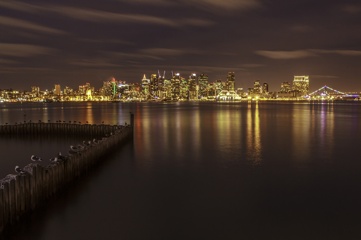 Night photo, San Diego skyline