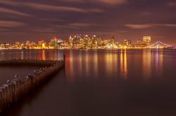 Night photo, San Diego skyline