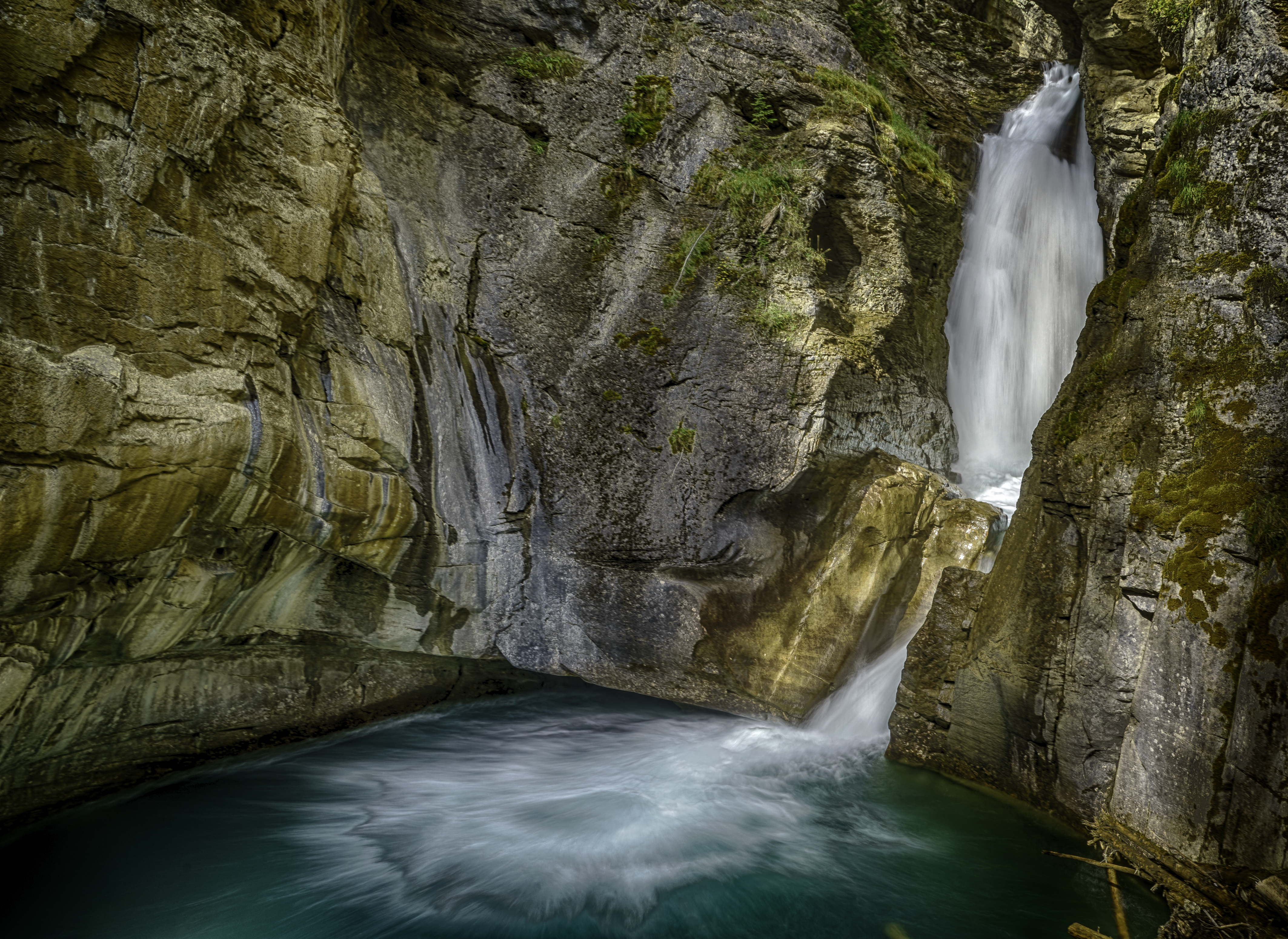 Johnston Canyon Falls2_HDR