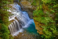 Johnston Canyon Falls6_HDR