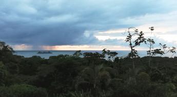 Sunset seen from Cristal Ballena Hotel