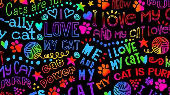 Puuuurfect Love Fabric by the Yard