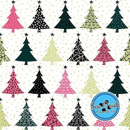 Christmas Trees Sew O'side Exclusive 100% Woven Cotton by the YarD