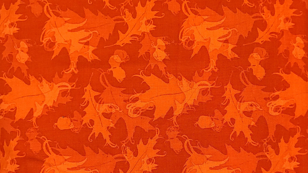 Rustic Fall Leaves Fabric by the Yard