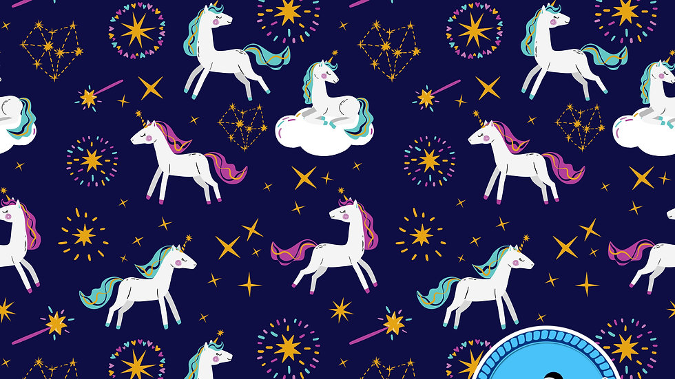 Unicorn Magic Sew O'side Exclusive 100% Woven Cotton by the Yard