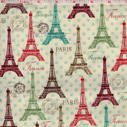 Eiffel Towers Fabric by the Yard