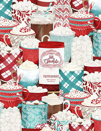Christmas Cocoa Fabric by the Yard