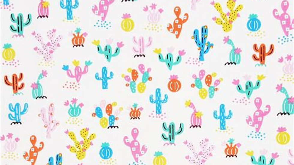 Colorful Cactus Fabric by the Yard