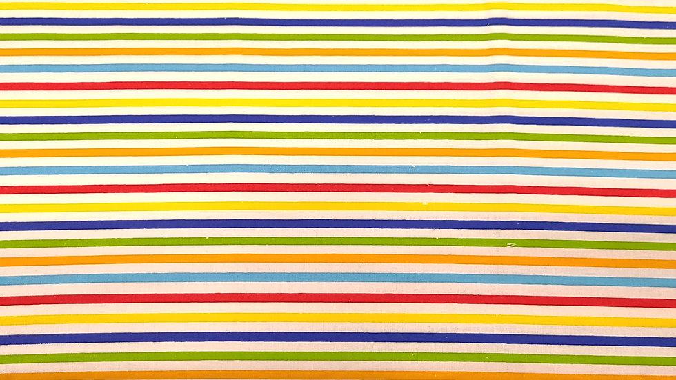 Rainbow Stripes with White
