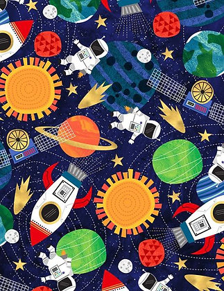 Blast Off! Fabric by the Yard