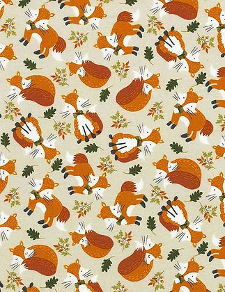 Fox Toss Fabric by the Yard