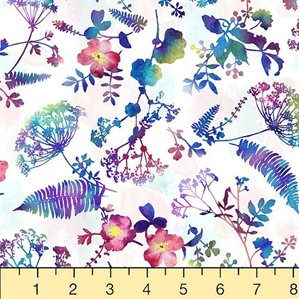 Electric Garden Fabric by the Yard