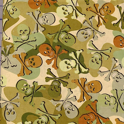 Camouflaged Skulls Fabric by the Yard
