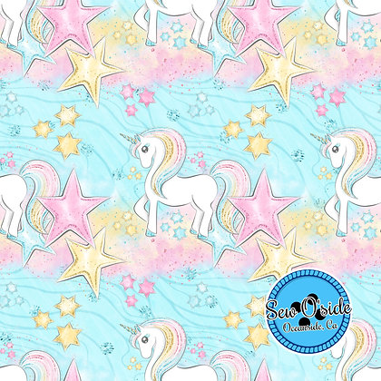 Pink Unicorns Sew O'side Exclusive 100% Woven Cotton by the Yard