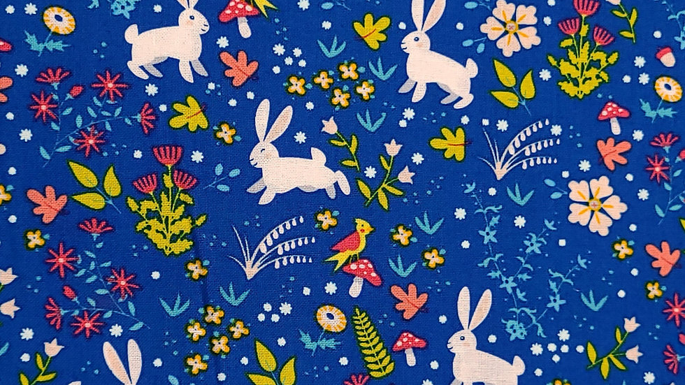 Spring Bunny Fabric by the Yard