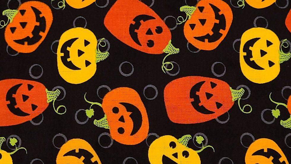Spooky Pumpkins Fabric by the Yard