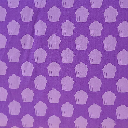 Lavender Cupcakes Fabric by the Yard