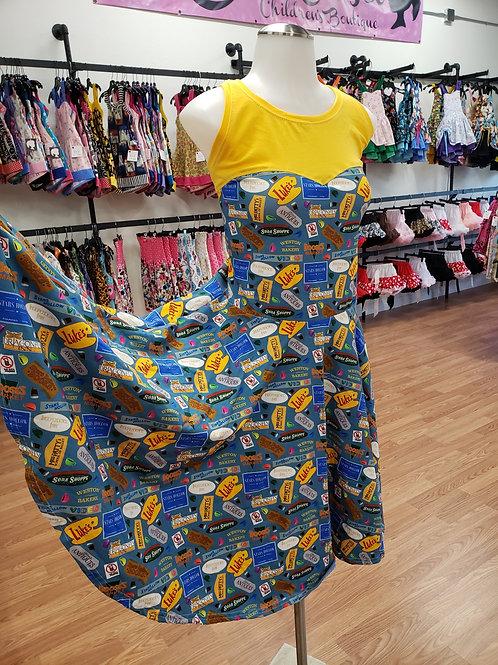 Gilmore Girls Inspired Sweetheart Dress
