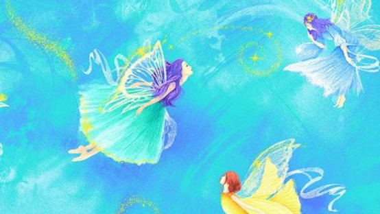 Sweet Fairies Fabric by the Yard