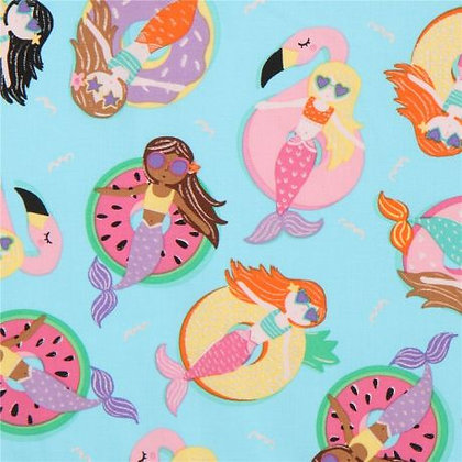 Lazy Mermaids Fabric by the Yard