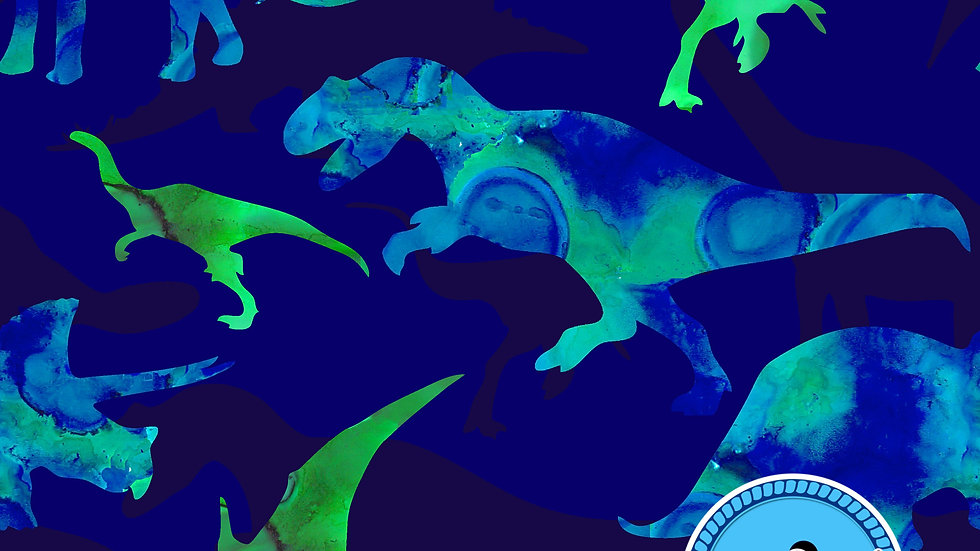 Dinosaurs Sew O'side Exclusive 100% Woven Cotton by the Yard
