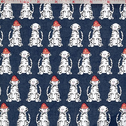 Fire Dogs Cotton Fabric by the Yard