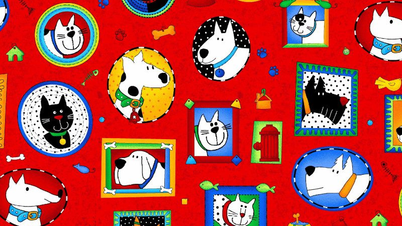 Picture Puuurfect Fabric by the Yard