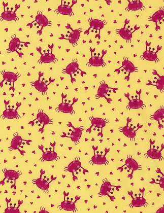 Crab Love Toss Fabric by the Yard