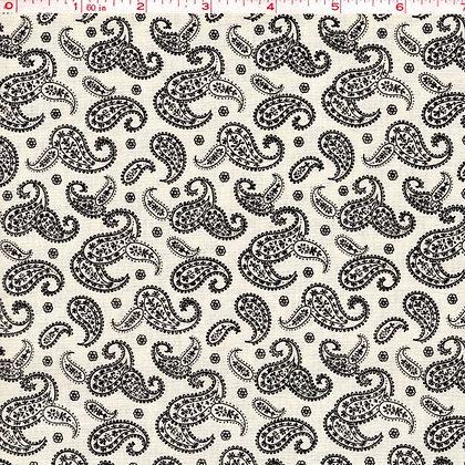 Paisley Tan Fabric by the Yard
