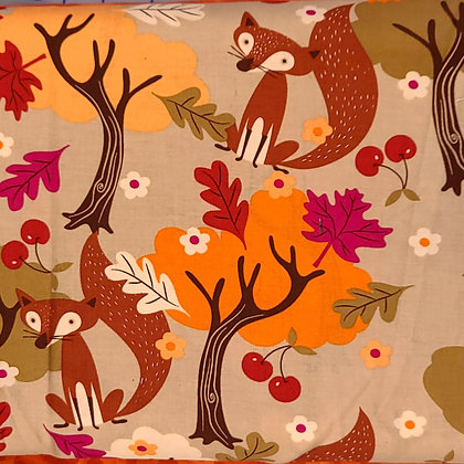 Foxes in the Forrest Fabric by the Yard
