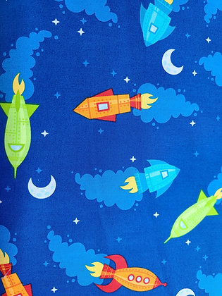 Rocket to the Moon Fabric by the Yard