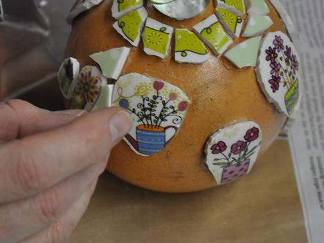 Keramikkugel im Entstehen