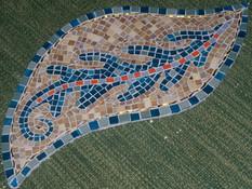 Silvia S. Mosaikbaltt aus Glas
