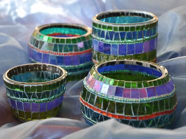 Verschiedene Mosaiklichter