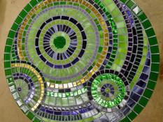 Evi H.` s Glasmosaiktisch