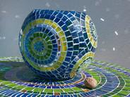 Mosaiklicht auf Mosaiktisch