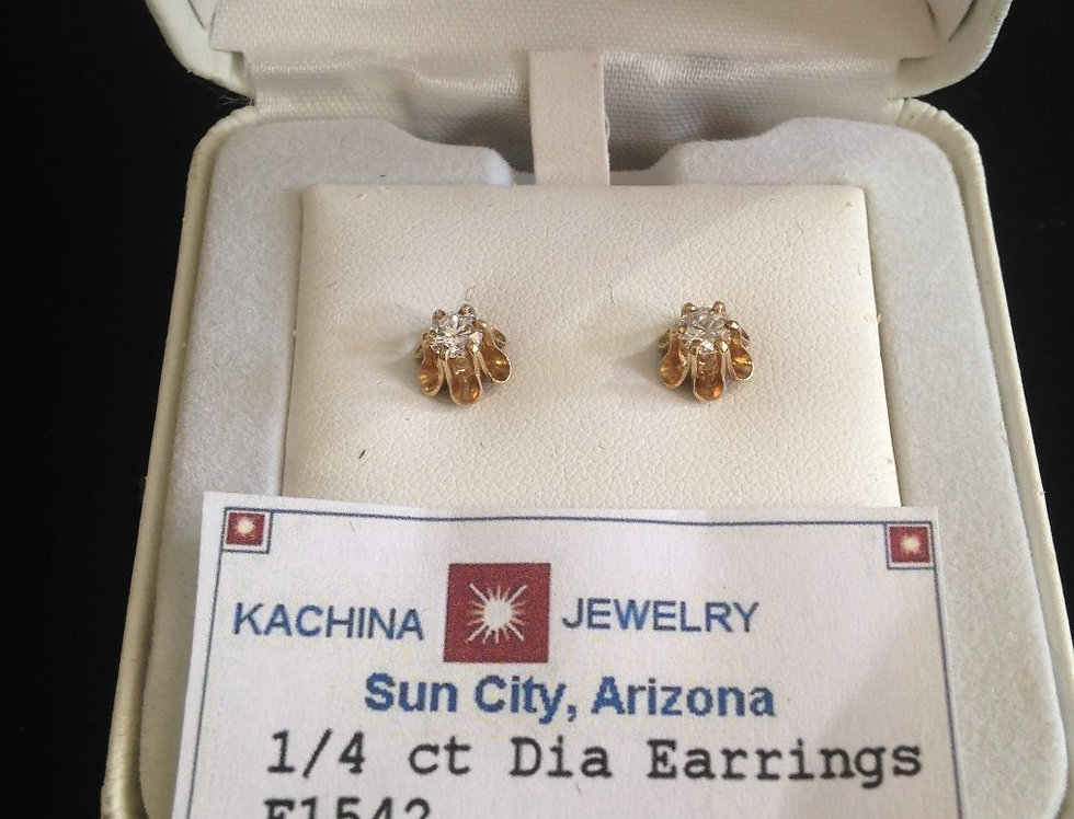 1/4 ct Dianond Earrings