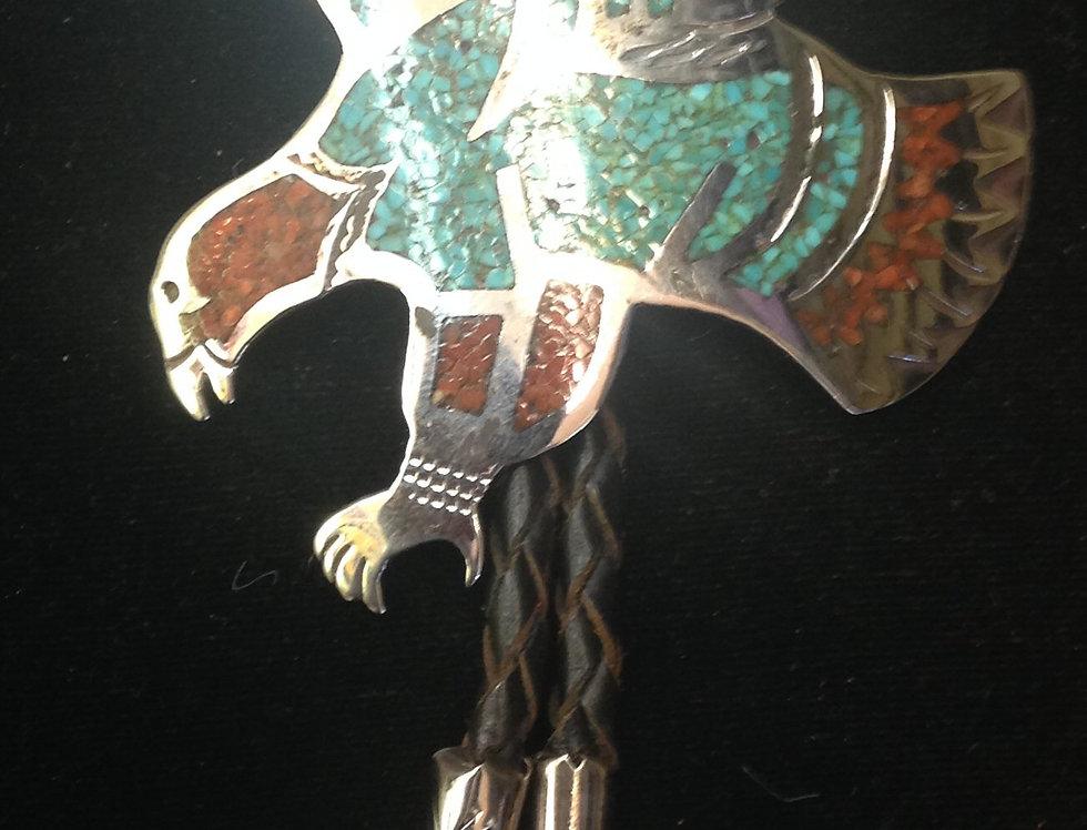 Sterling Silver Eagle Design Bolo Tie