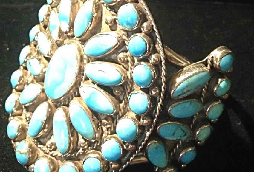 Large Multi-Stone Turquoise Bracelet