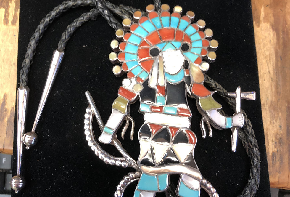 Large Custom Hand Made Indian Bolo Tie