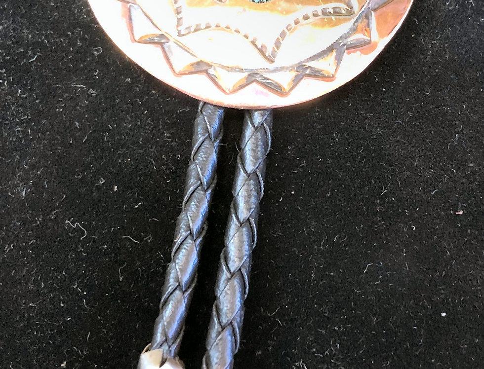 Native American Handmade Copper Bolo Tie