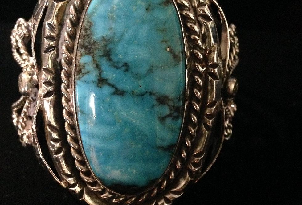Large Single Turquoise Stone Bracelet