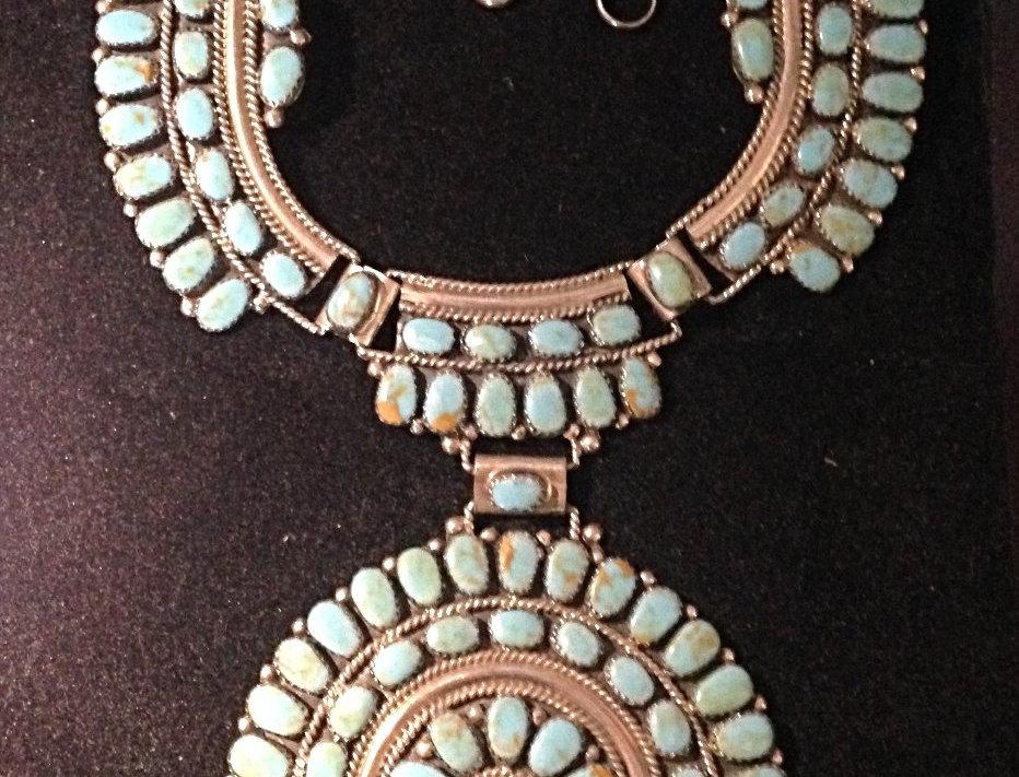 Large Turquoise Multi Stone Necklace