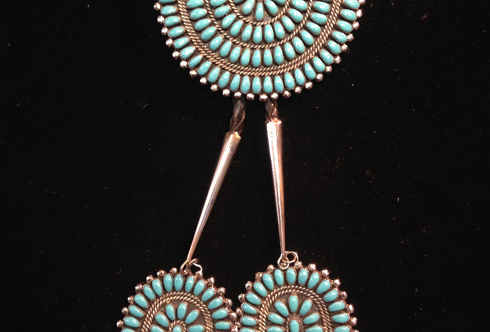Very Large Multi Stone Turquoise Bolo Tie