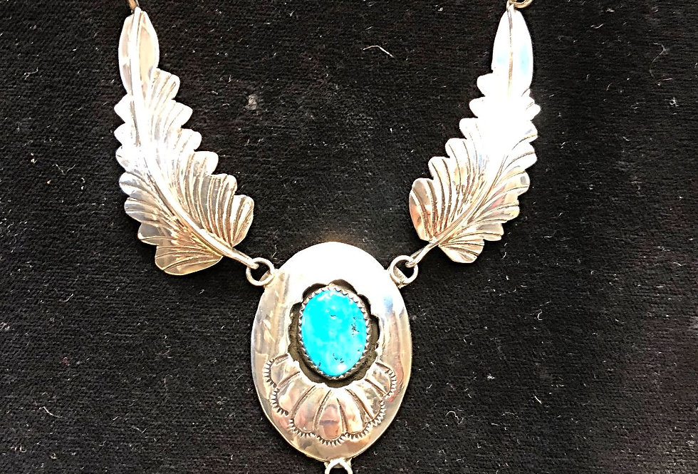 Navajo Hand Made Turquoise Necklace