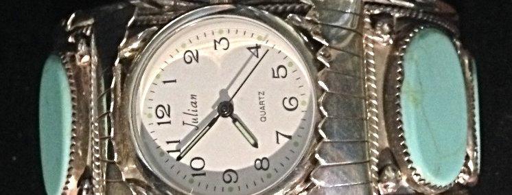 Sterling SilverTurchoise Watch Cuff Bracelet