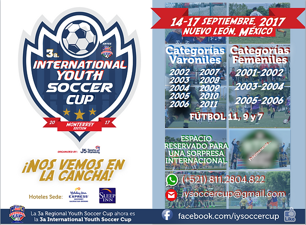 Convocatoria International Youth Soccer Cup 2017